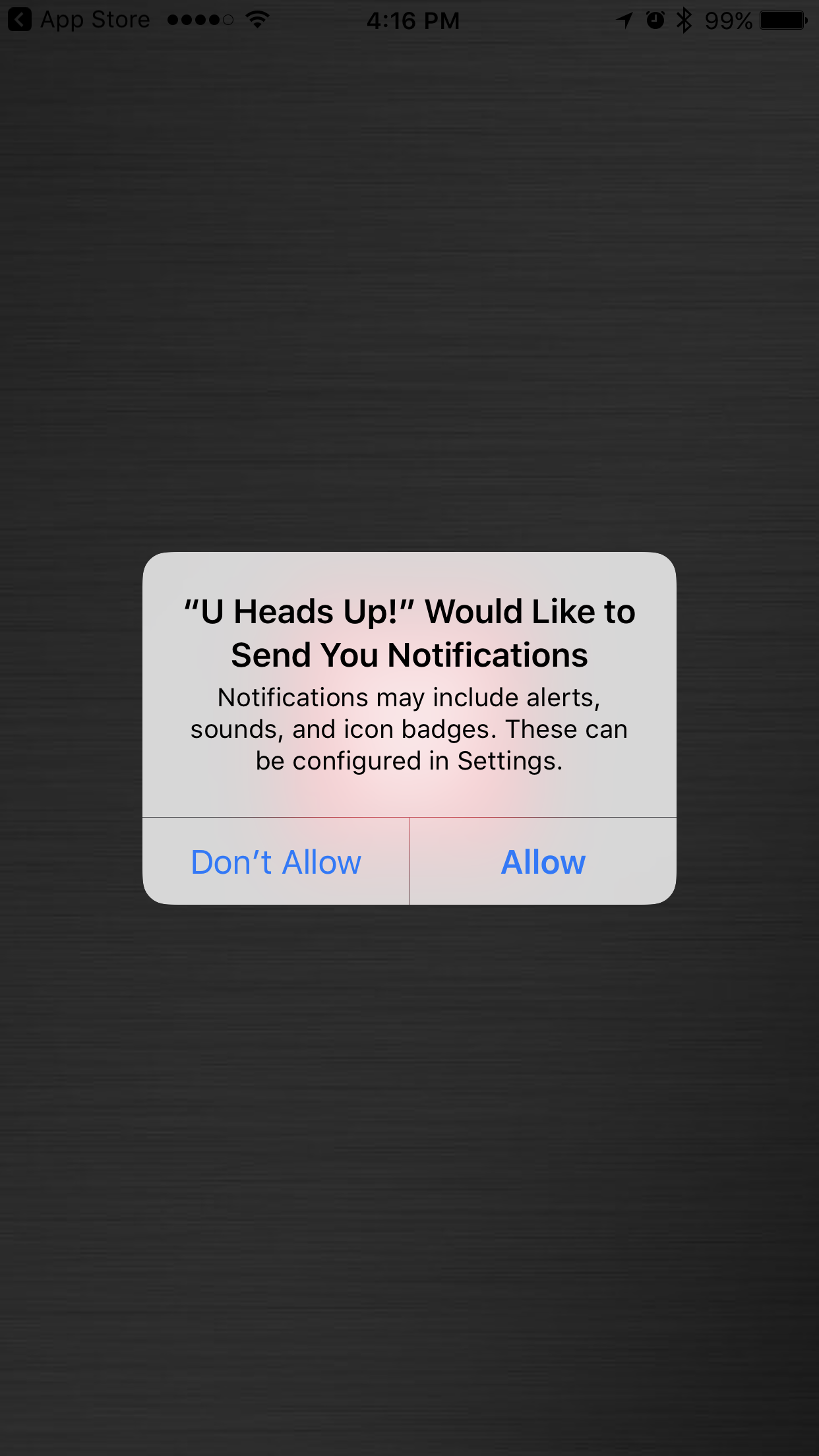 U Heads up Screenshot