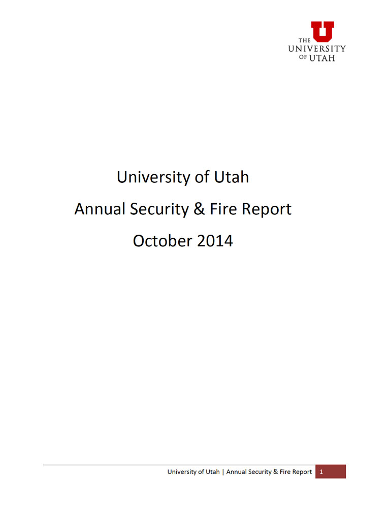 2014 Annual Security and Fire Report